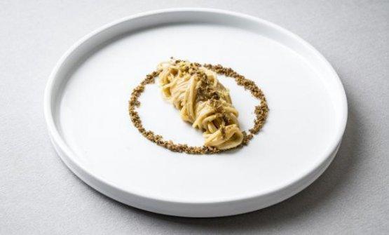 Lo Spaghettino freddo con sarde di lago, bottarga