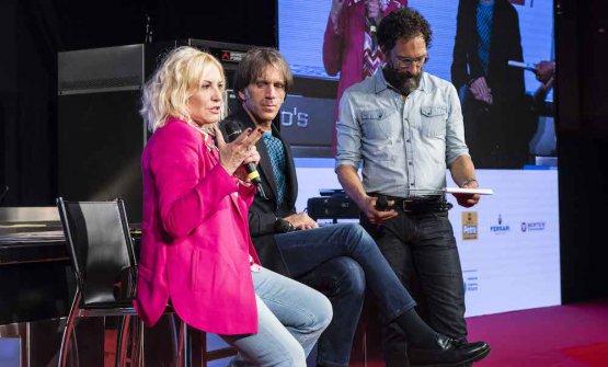 Antonella Clerici con Davide Oldani e Federico Quaranta