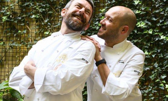 I protagonisti in cucina:Giorgio ServettoeMarco Visciola