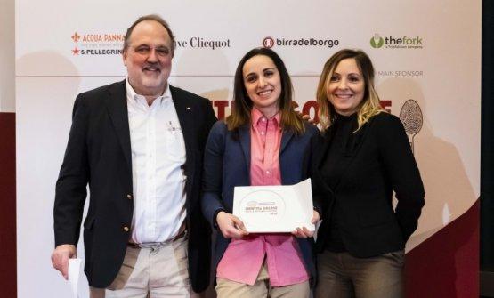 Premio IL MIGLIOR SOUS CHEF, offerto da Divine Creazioni - Cristina Mollame, Brand Manager  ARIANNA GATTI - MIRAMONTI L'ALTRO – CONCESIO (BRESCIA)