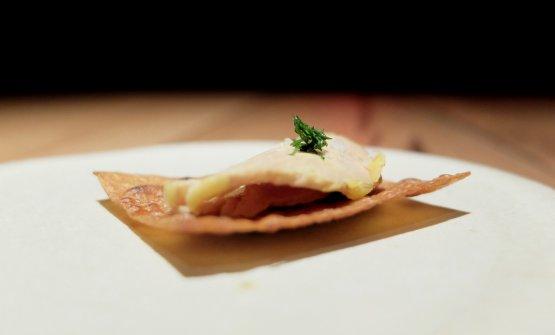 Sfoglia di cipolla e foie gras al Porto