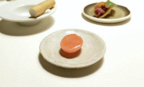 Ravanello marinato in aceto di lampone