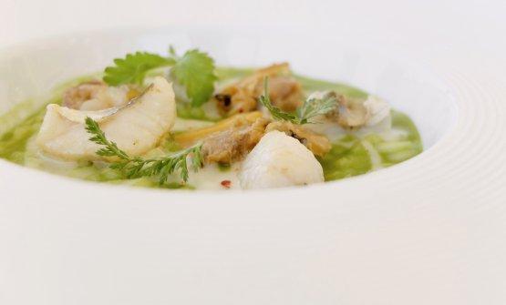Risotto, gallinella di mare, spinaci, vongole veraci e pepe di Sichuan