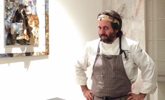 Cristiano Tomei e una delle sue smorfie, al termine di una nostra cena eccezionale a L'Imbuto di Lucca (foto Tanio Liotta)