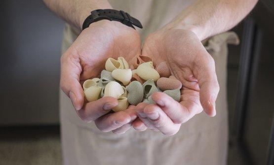 La pasta è stata trafilata dal pastificio Marella, appositamente per La Crepa