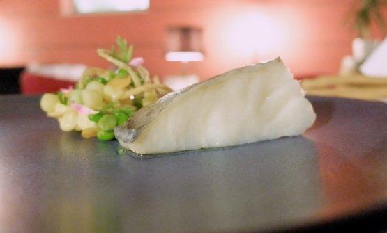 Poco da dire, molto buona anche l'Insalata russa croccante di baccalà portoghese, cotto a bassa temperatura, con maionese al dragoncello