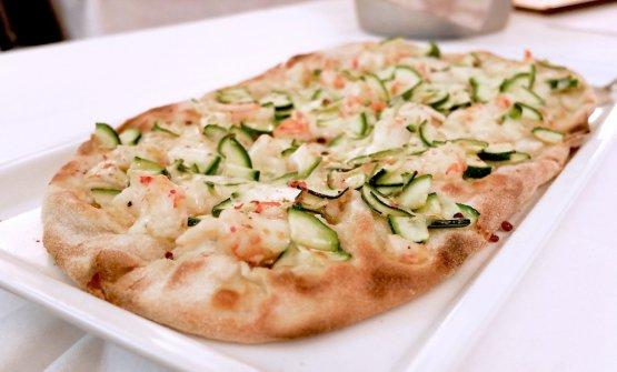 La pizza Gamberi, stile pala alla romana(foto Tanio Liotta)
