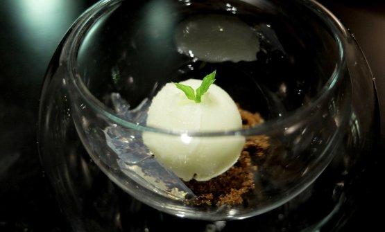 Mojito:muscovado, estrazione di lime in sorbetto, gel di ruhm bianco