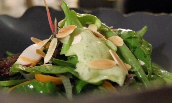 Ode all'orto: insalatina di verdure, spuma di erbe spontanee