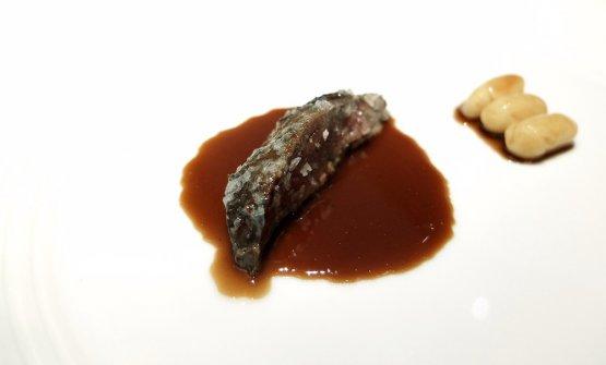 Piccione in salsa bretone (cipolle/porri, zucchero, sale, funghi, senape,burro). Un piatto fin troppo ricco
