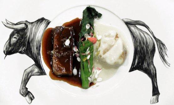 Lingua & coda: uno dei nuovi piatti di Yoji Tokuyoshi nel suo ristorante omonimo, a Milano (foto Tanio Liotta)