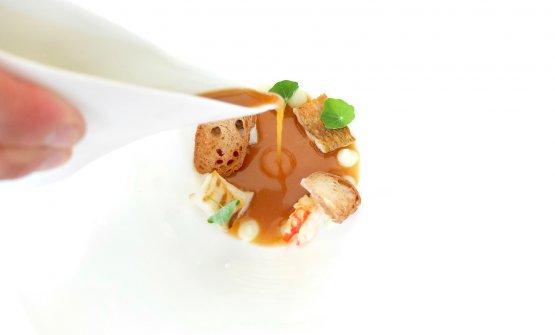 Zuppa di pesce (orata, aragostella, passera di mare, triglia)