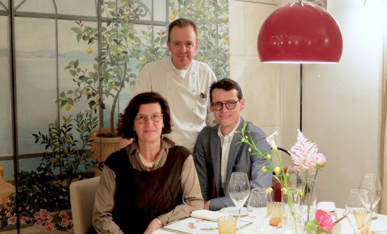 Andrea Costantini con Annalisa Tedeschi e il figlio Gianpiero