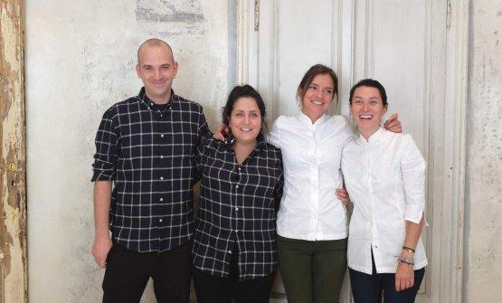 La squadra del Woo*ding Bar, da sinistra: Manuel Di Vittorio, Victoria Small, Valeria Margherita Mosca, Vanessa Gualtieri