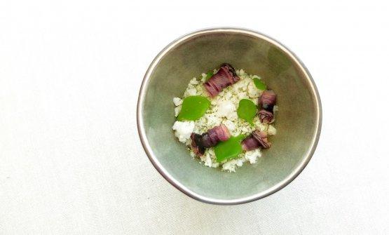 Percebes, garlic flan, garum, purslane, soup of pine oil. A stunning, perfect, magical dish