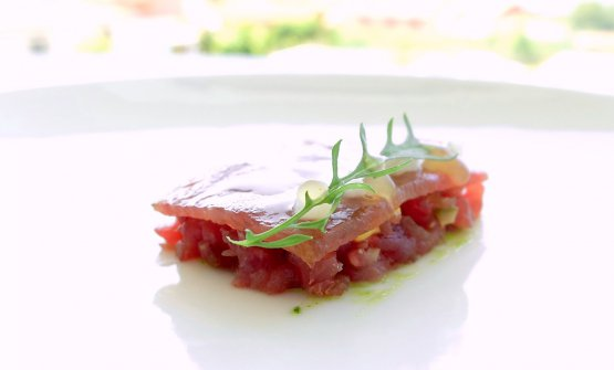 Cachena Veal, mustard and spicy herbs. Cachenais the high-quality Galician breed, it's small cattle that gives little meat. Its breeding has been almost totally replaced by more productive breeds; today it's being recovered. The dish is simply exemplary, masterful
