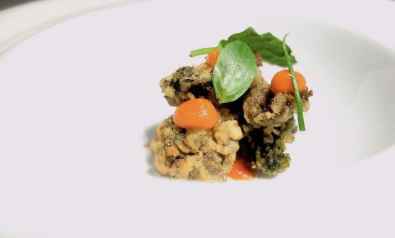 Ortziadas, salsa alla diavola, basilico(le foto dei piatti sono di Tanio Liotta)