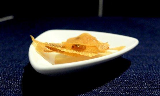 Sfoglia di patata con chutney di kiwi