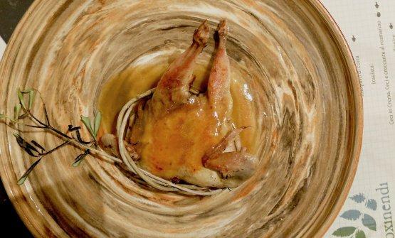 Un pollo sotto pressione, ossia marinato nel sifone col lentisco