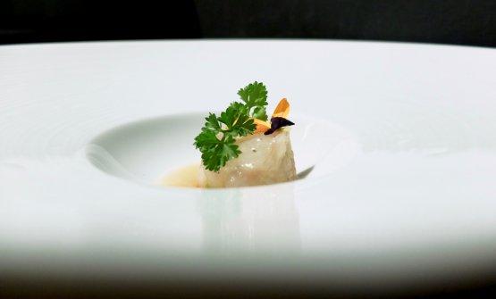 La nostra cena nelle foto di Tanio Liotta. Qui Gamberi gobbetti sardi in tartare, salsa al sake e mirin