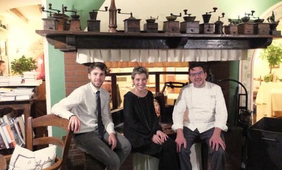 I fratelli Mitja eTanja Sirk con il marito di quest'ultima, lo chef Alessandro Gavagna