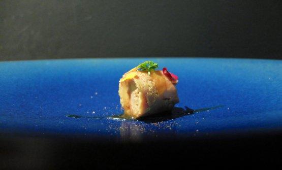 Foie gras marinato nel mirin, miele del Madagascar, pepe del Madagascar