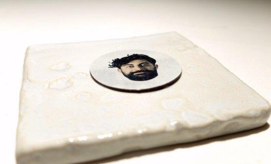 Dolcezze finali: c'è anche un disco di cioccolato con impresso il volto dello chef...