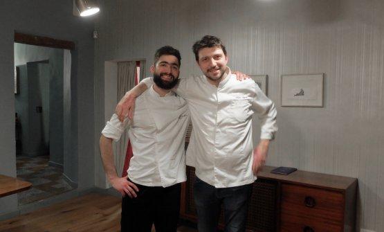 Gipponi e il suo sous chef Gian Nicola Mula