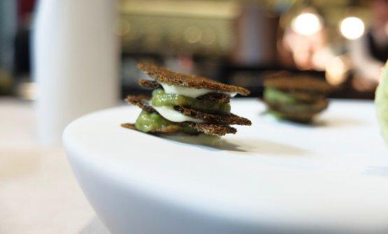 Buonissimo il Croccante di alga nori, maionese al wasabi e guacamole