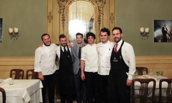 The team at Giglioin Lucca, a restaurant that'