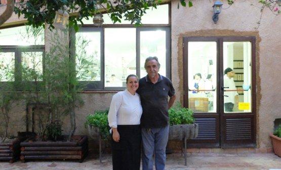 Caterina col padre Roberto Ceraudo