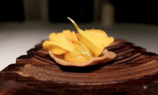 Tartelletta con crema di carote in carpione