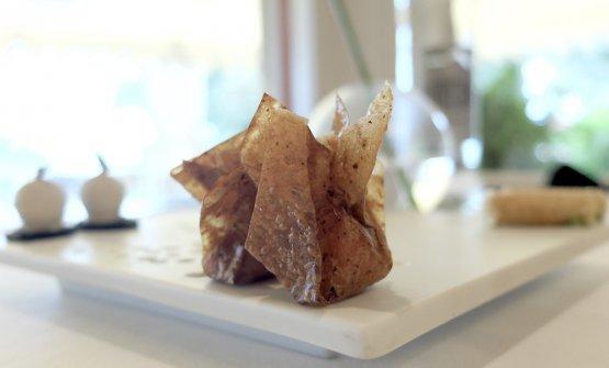 Caramelle di toma brigasca, pellicola di pere