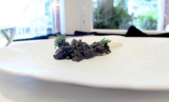 Lumache alla ligure (al verde, con timo selvatico, menta,prezzemolo, crema di sedano rapa)
