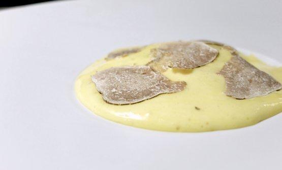 Zabaione, mela, nocciola, tartufo bianco