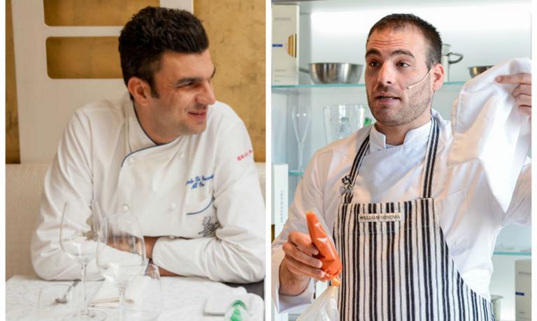 Riccardo Di Giacinto (a sinistra) e Marco Martini saranno i primi protagonisti di sei cene con le quali la Regione Lazio promuover� le proprie eccellenze enogastronomiche, a Identit� Expo