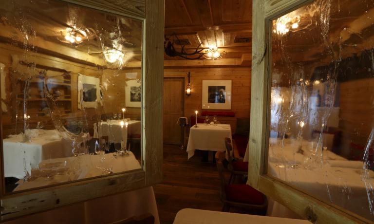 La sala del ristorante Dolomieu