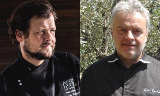 Joao Rodriguesdel ristorante Feitoriadi Lisbonae Giuseppe Ricchebuonodel Vescovado di Noli (Savona). Cucineranno insieme nell'indirizzo di quest'ultimo venerdì 18 maggio, 8 portate a120 euro vini inclusi, prenotazioni+39.019.7499059