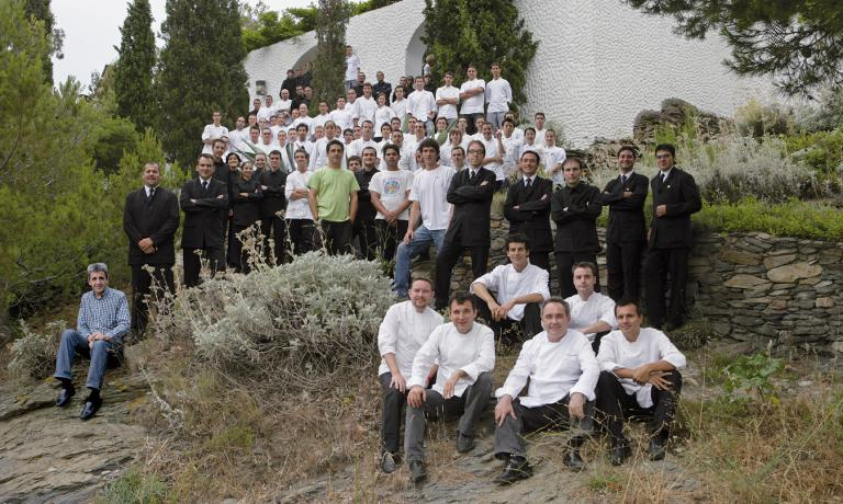 The staff at elBulli in a photo from 2007