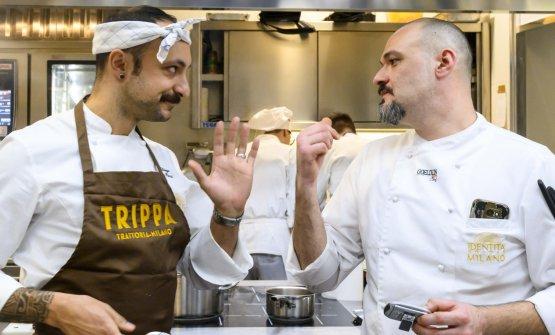 Diego Rossi nella cucina di Identità Golose Milano