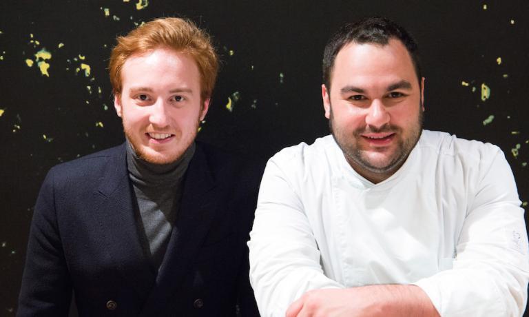 Emilio Re Rebaudengo e chef Alessandro Mecca
