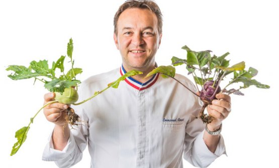 Emanuel Renaut, chef di Floconsde sel a Megève, Alta Savoia, Francia