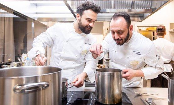 Croatti con Alessandro Rinaldi, chef di Identità Golose Milano