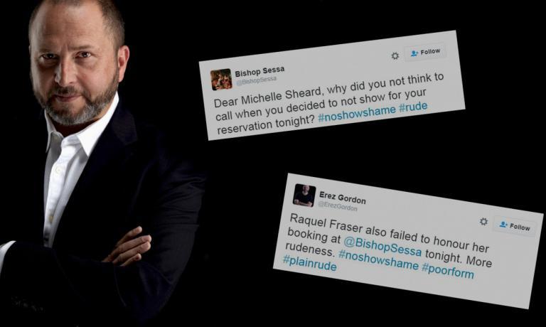 """Il ristoratore australianoErez Gordon ha deciso di pubblicare su Twitter, con l'hashtag#NoShowShame, i nomi dei clienti """"scomparsi"""". L'immagine è diwww.therail.media"""