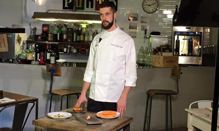 Ernesto della Santa, 28 anni, sous chef al Punto di Lucca con Damiano Donati, sarà il cuoco protagonista del Postrivoro dei prossimi 11 e 12 febbario