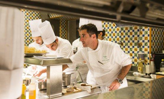 Ernesto Iaccarino in cucina(fotoS. Scatà)