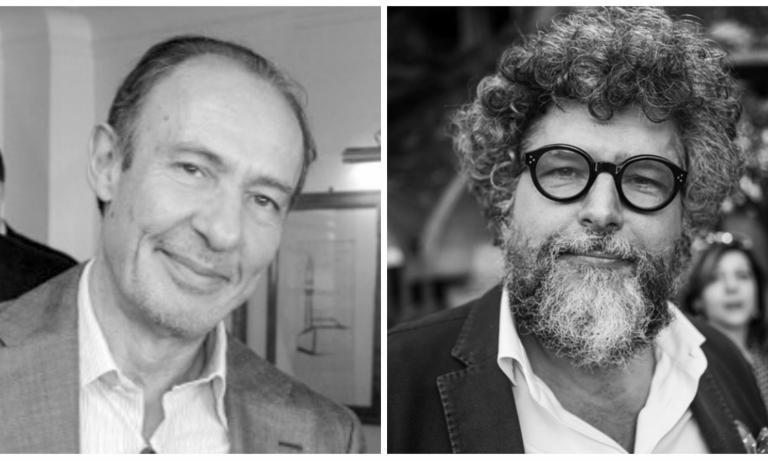 I curatori Antonio Paolini e Andrea Grignaffini