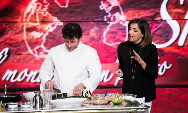 Lisa Casali con Cesare Battisti, chef del Ratanà