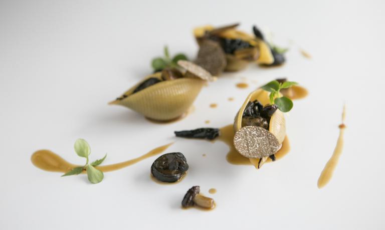 Lumaconi alla boscaiola: il formato di pasta secca