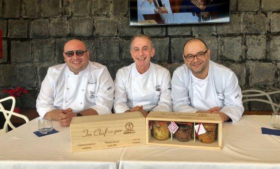 Francesco Arena, Pasquale Caliri e Lillo Frenialla presentazione dell'iniziativa